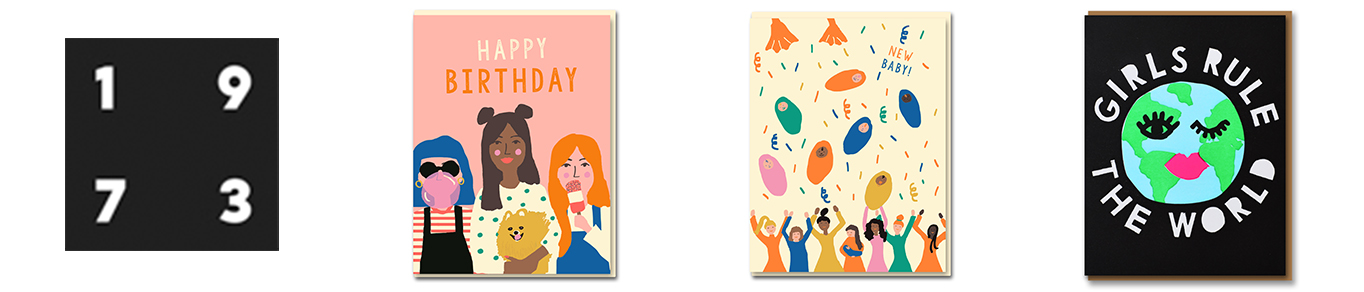 Nineteen Seventy Three - letterpress, luxury and screenprinted greeting cards with sweet humour and a contemporary twist!