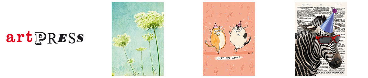 ArtPress publishes beautifully designed contemporary greeting cards, featuring the work of new and established printmakers, illustrators, fine artists and photographers.