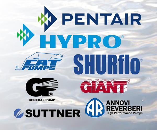 Logos: Pentair, Hypro, Shurflo