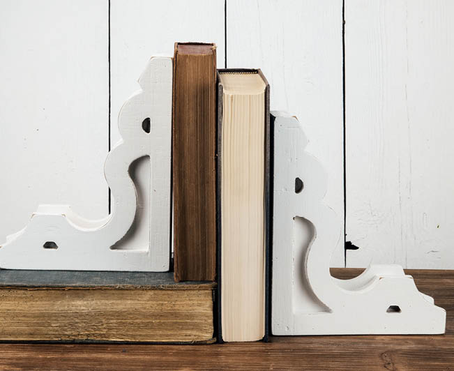 book ends white
