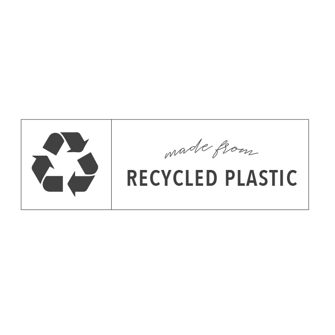 made from recycled polastic
