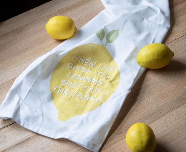 lemon tea towel wholesale