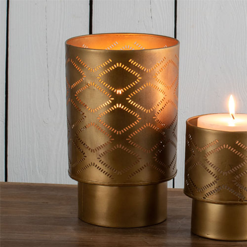 gold warm candle holder