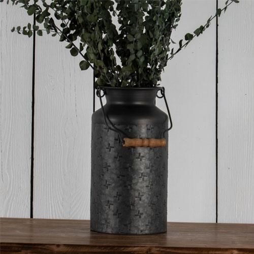 black galvanized vase wholesale home decor