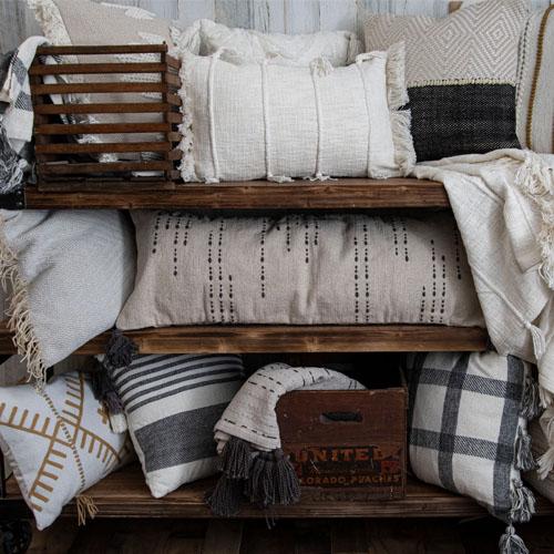 Cozy indoor throw pillow