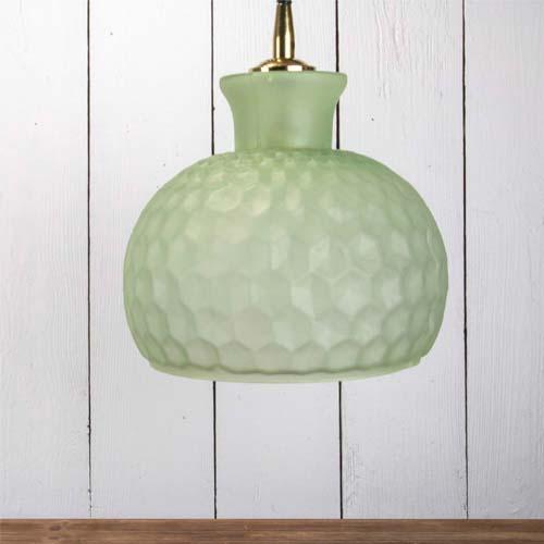 green handblown glass