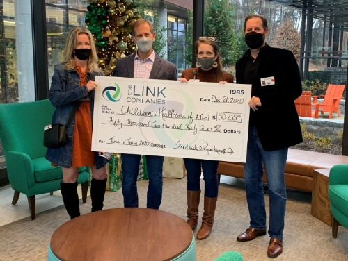 Picture 1: Left to right: Missy/Fred Rosenkampff, CHOA representative Maddy Post and Brad Rosenkampff Picture 2: Left to right: Missy Rosenkampff, Mary Frances Bowley (founder of Wellspring Living) and Fred Rosenkampff