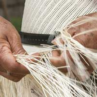Man work on handmade goods