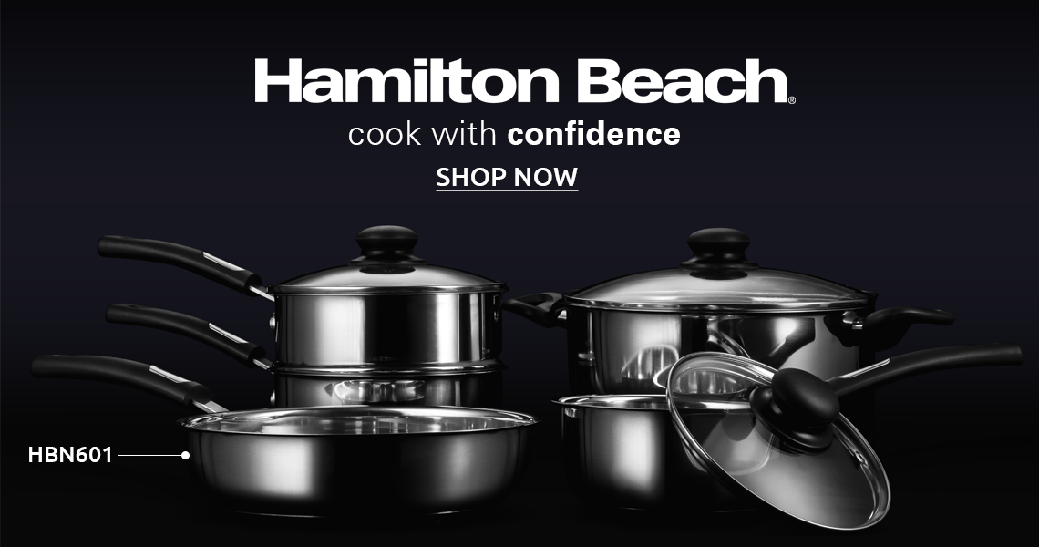 Hamilton Beach Stainless Steel Cookware Set