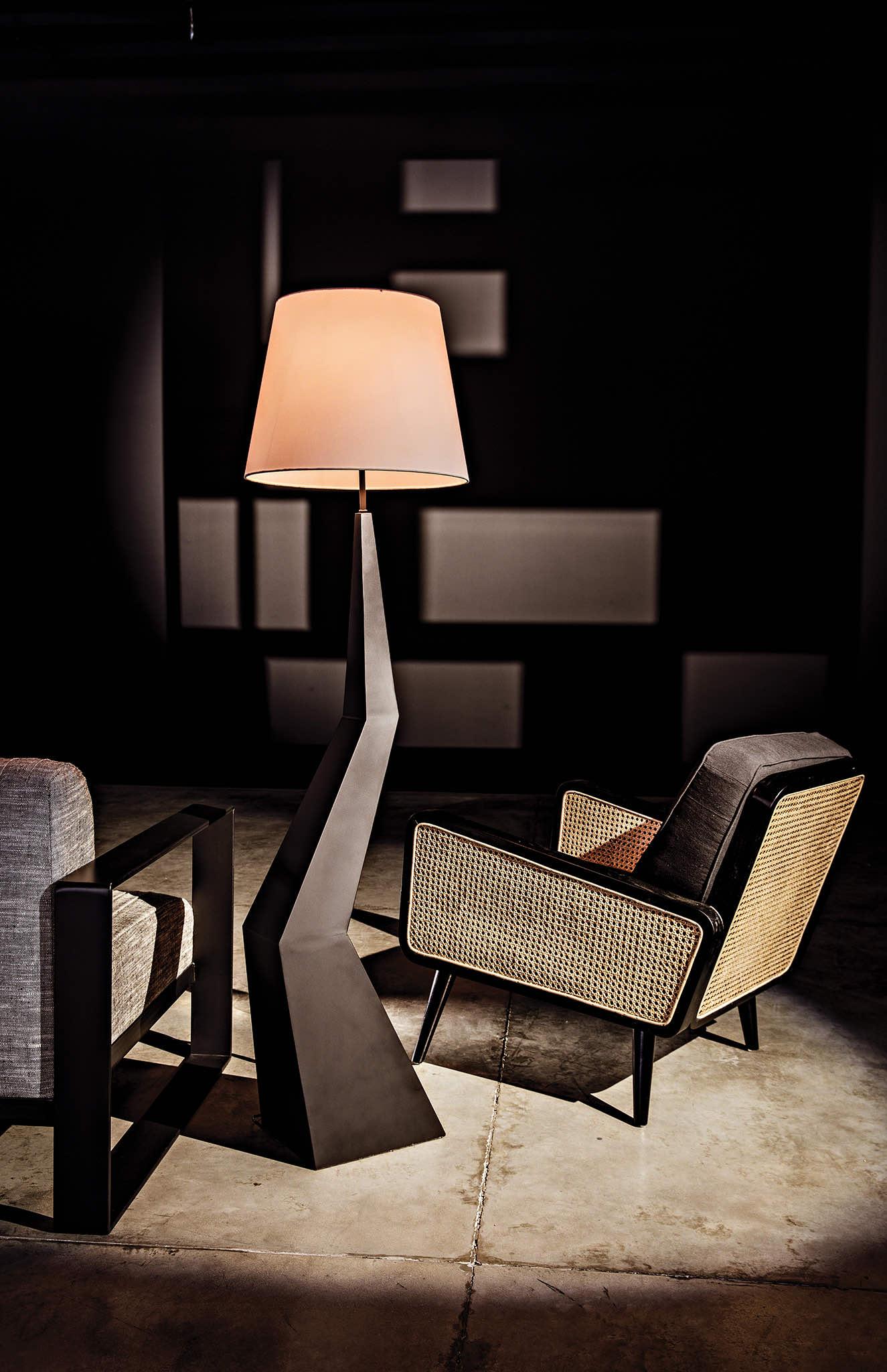 Rhombus Floor Lamp and Edward Chair